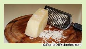 Parmesan cheese can contain Lactobacillus rhamnosus