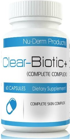 Clear-Biotic is a probiotic supplement marketed for help with acne.