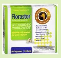 Florastor is a Saccharomyces boulardii probiotic supplement
